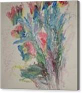 Floral Study In Pastels B Canvas Print