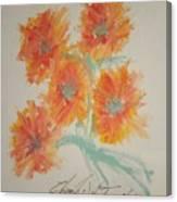 Floral Study In Pastels U Canvas Print