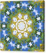 Floral Sun Canvas Print