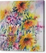 Floral Symphony Canvas Print