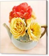 Floral Tea Canvas Print