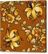 Floral Textile Design Canvas Print