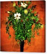 Floral Wall Arrangement Canvas Print