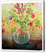 Floral With Eastern Tapestry Canvas Print