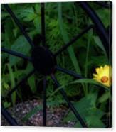 Floral Yellow Peek A Boo Canvas Print