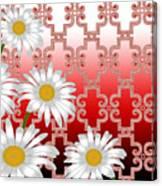 Floral Zellige Design 4 Canvas Print
