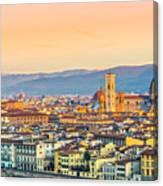 Florence At Sunrise - Tuscany - Italy Canvas Print