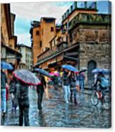 Florence In The Rain Canvas Print
