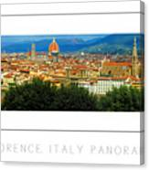 Florence, Italy Panoramic Poster Canvas Print