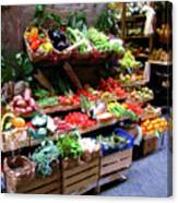 Florence Produce Stand Canvas Print