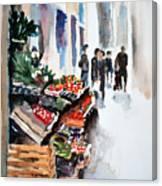 Florence Street Market Canvas Print
