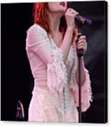 Florence Welch Singer Of Florence And The Machine Performing Live - 002 Canvas Print