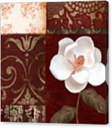 Flores Blancas Square I Canvas Print