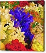 Flores Y Lilas Canvas Print