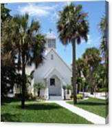 Florida Community Chapel Canvas Print