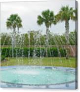 Florida Fountain Canvas Print