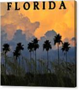 Florida Poster Canvas Print