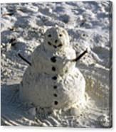 Florida Snowman Canvas Print