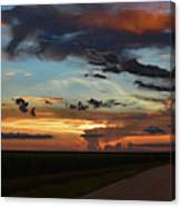 Florida Sunset Winding Road 2 Canvas Print