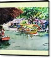 Floting Market Canvas Print