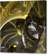 Flow Of Silver And Gold Canvas Print