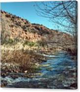 Flow Of The Verde River Canvas Print