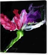 Flower In The Dark 3 Canvas Print