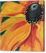 Flower A-blaze Canvas Print