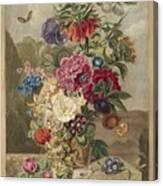 Flower Arrangement, Anthonie Van Den Bos, 1778 - 1838 B Canvas Print