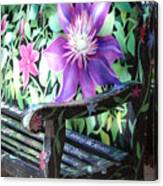 Flower Bench Canvas Print