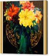 Bouquet For Mrs De Waldt H B With Decorative Ornate Printed Frame. Canvas Print