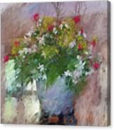 Flower Bowl Canvas Print