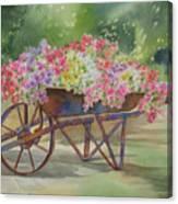 Flower Cart Canvas Print