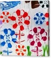 Flower Face Murial Canvas Print