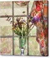 Flower - Flower - A Vase Of Flowers  Canvas Print