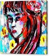 Flower Girl Portrait  Canvas Print