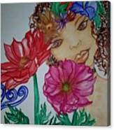 Flower Goddess  Canvas Print