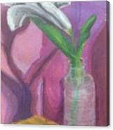 Flower In A Vase. Canvas Print