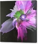 Flower In Black Canvas Print