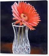 Flower In Crystal Vase Canvas Print
