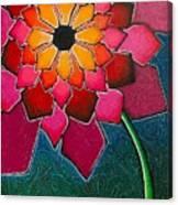 Flower Mandala-a Canvas Print
