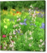 Flower Mosaic Canvas Print