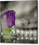Flower Of Ice Canvas Print