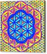 Flower Of Life Fractle Canvas Print