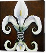 Flower Of New Orleans White Calla Lilly Canvas Print