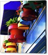 Flower Pots Canvas Print