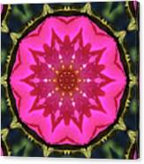 Flower Power Kaleidoscope Artifact Canvas Print