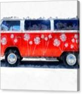 Flower Power Van Canvas Print