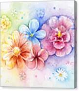 Flower Power Watercolor Canvas Print