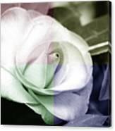 Flower Quadrant Colors Canvas Print